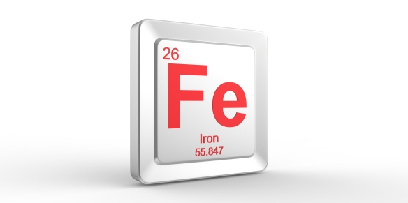 Fe symbol 26 material for Iron chemical element